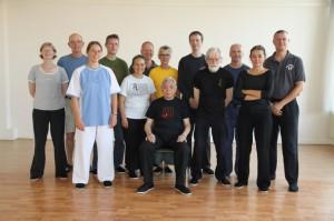 De meeste Nederlandse William Chen Tai Chi leraren, samen met Grootmeester Chen, op de foto!