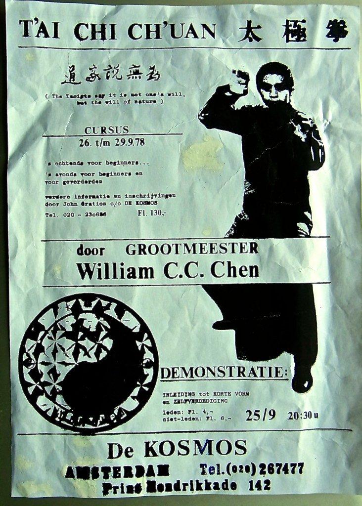 """William C. C. Chen werd door Kwee Swan Ho in 1978 voor het eerst uitgenodigd in """"De Kosmos"""" te Amsterdam"""